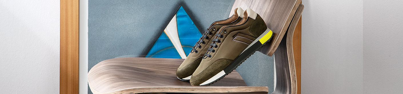 Bimaterial sneaker