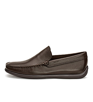 Unlined leather slip-on