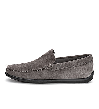 Unlined punched suede slip-on