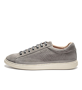 Suede sporty sneakers