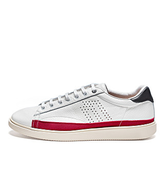 Sneaker sporty in pelle