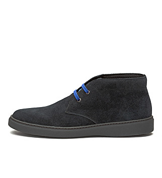Suede bicolor ankle boot