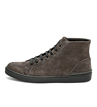Suede sporty ankle boot