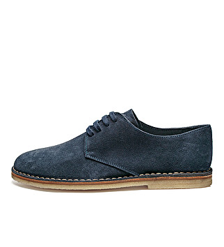 Suede derby w/ crepe sole