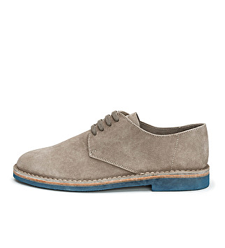 Washed suede derby