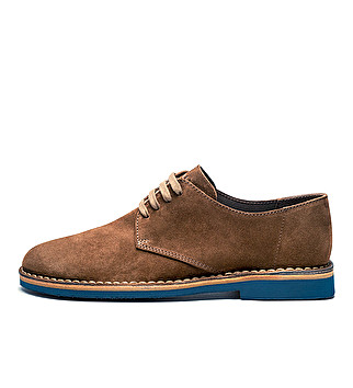 Unlined suede derby