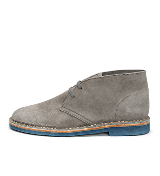 Washed suede ankle boot