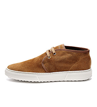 Sporty suede ankle boots