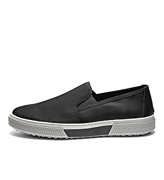 Sporty fabric slip-ons