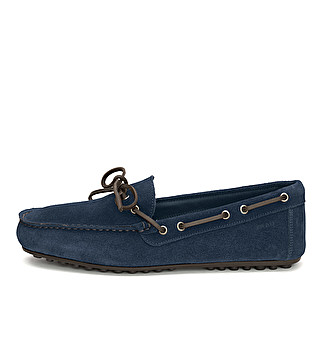 Suede driver loafer