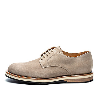 Suede derby three-color sole