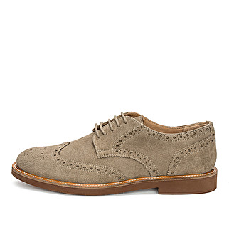 Suede English derby
