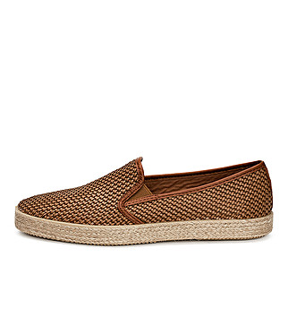 Summer interwoven fabric slip-on