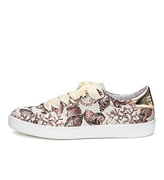 Sneaker in tessuto damascato