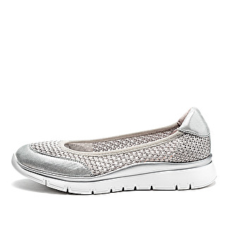 Sporty tricot ballet flats