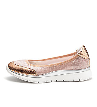 Shiny fabric ballet flats