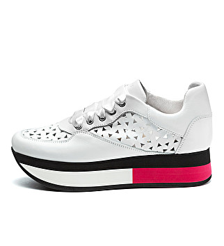 Tri-colour platform sneakers