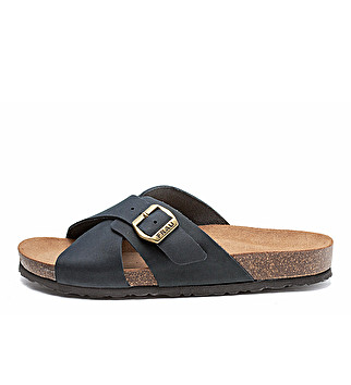 Nubuck double-strap sliders