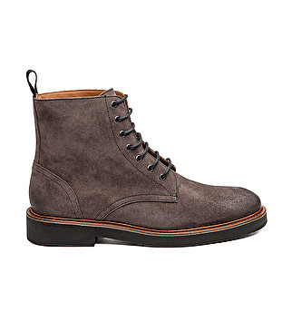 2b9afe7aba Distressed-effect suede combat boots with leather welt