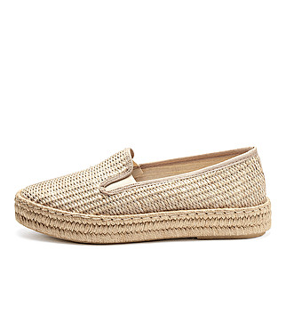 Woven fabric sporty-chic espadrilles