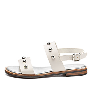 Leather sandals w/ metal studs