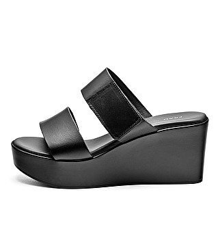Leather mules w/ strap