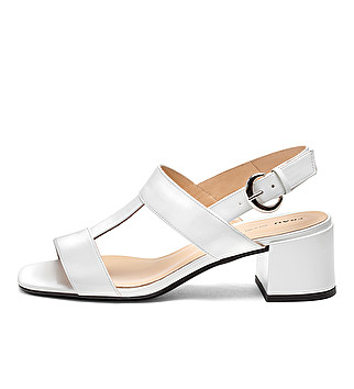 Patent leather T-bar sandals
