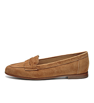 Suede tapered band loafer