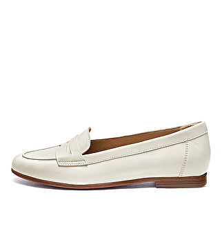 Leather tapered band loafer