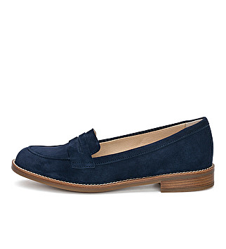 Suede English loafer