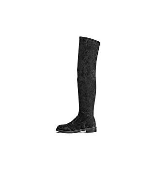 Elasticised fabric cuissardes boot