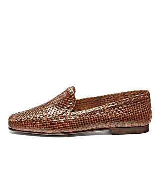 Fine woven leather loafers