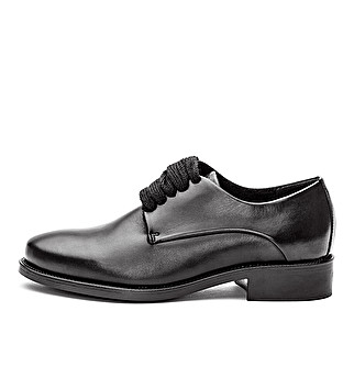 Leather smooth derby