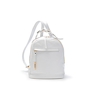 On-trend leather backpack
