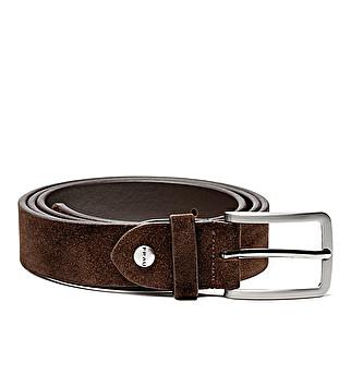 Suede belt w/ stud details