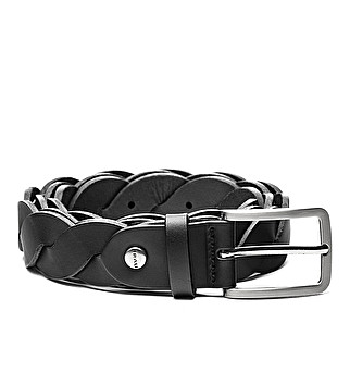 Leather belt w/ stud details