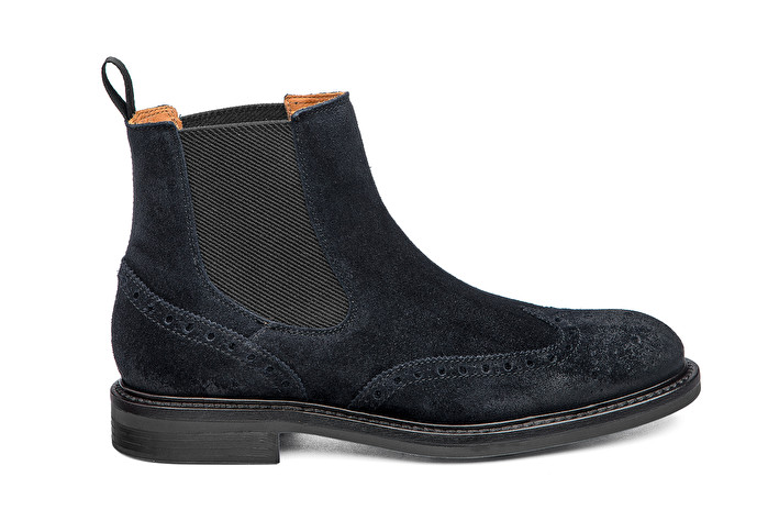 best website 552be a85c5 Suede Beatle boots with wing-tip design