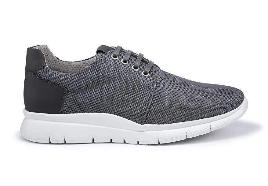 leather running shoes, colour Grey | Frau