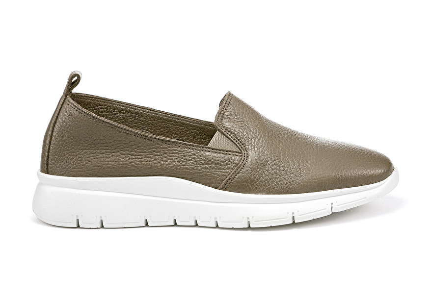 Summery soft leather slip-ons, colour